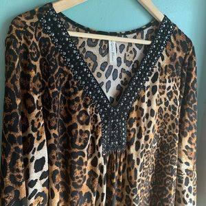 Silky Animal Print Blouse • PerSeption Woman
